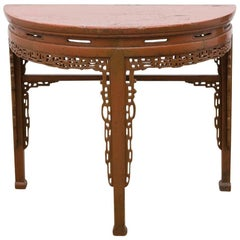 19th Century, Chinese Demilune Console