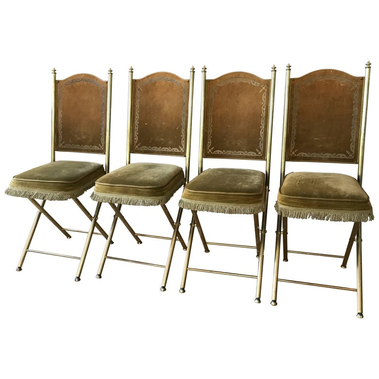 Chartreuse Velvet French Opera Chairs 1
