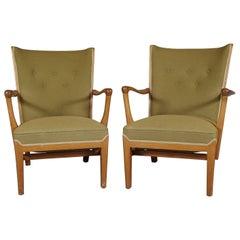 Pair of Frits Hansen Open Armchairs
