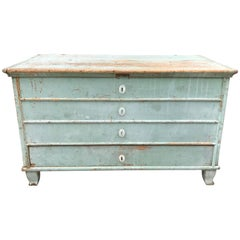 Blue Painted Swedish Chest