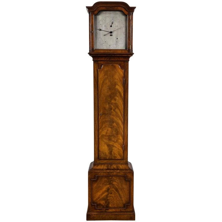 Antique Regency Year Calendar Mahogany Longcase Clock by John Miller of Bedford