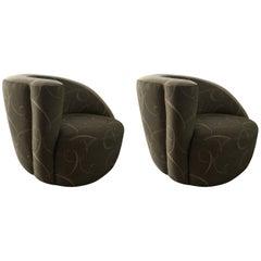 Pair of 20th Century Kagan Style Nautilus Chairs