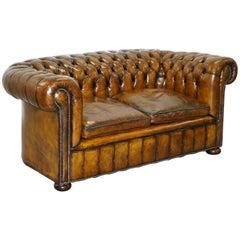 Rare 1920s Original English Fully Restored Chesterfield Gentleman's Club Sofa