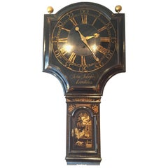 Antique George III Shield Dial Tavern Clock by John Johnson, London