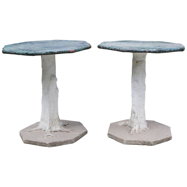 French Faux Bois Tables For Sale