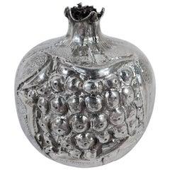 Italian Silver Novelty Lighter in Form of Pomegranate Fruit