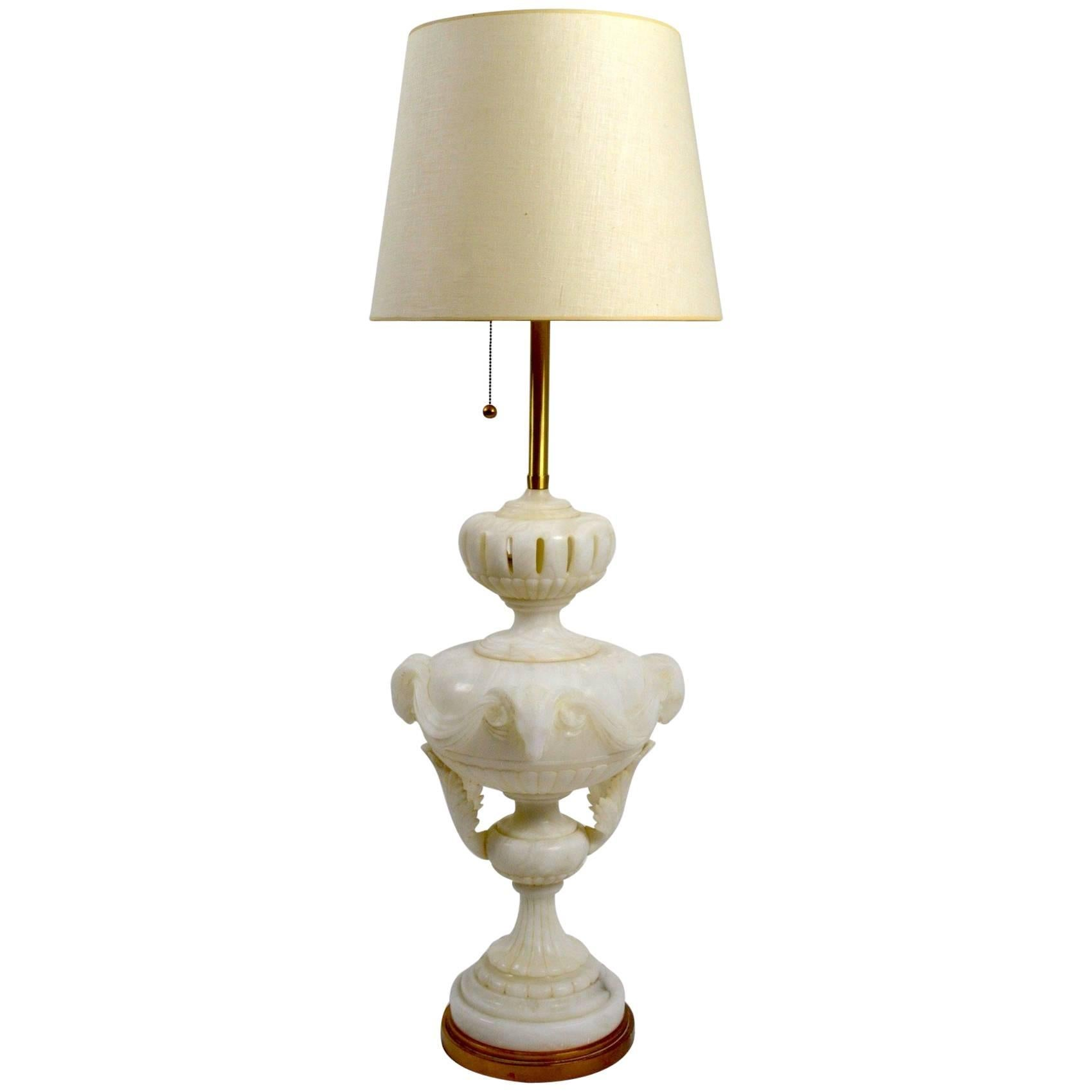 Massive Alabaster Lamp by Marbro Co
