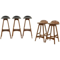 Erik Buch Bar Stools. Three bar height and two counter height.  Price is each.
