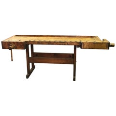 Industrial Maple Carpenters Work Bench