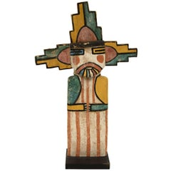 Vintage Southwestern Hopi Kachina Doll, Shalako Mana, Early 20th Century