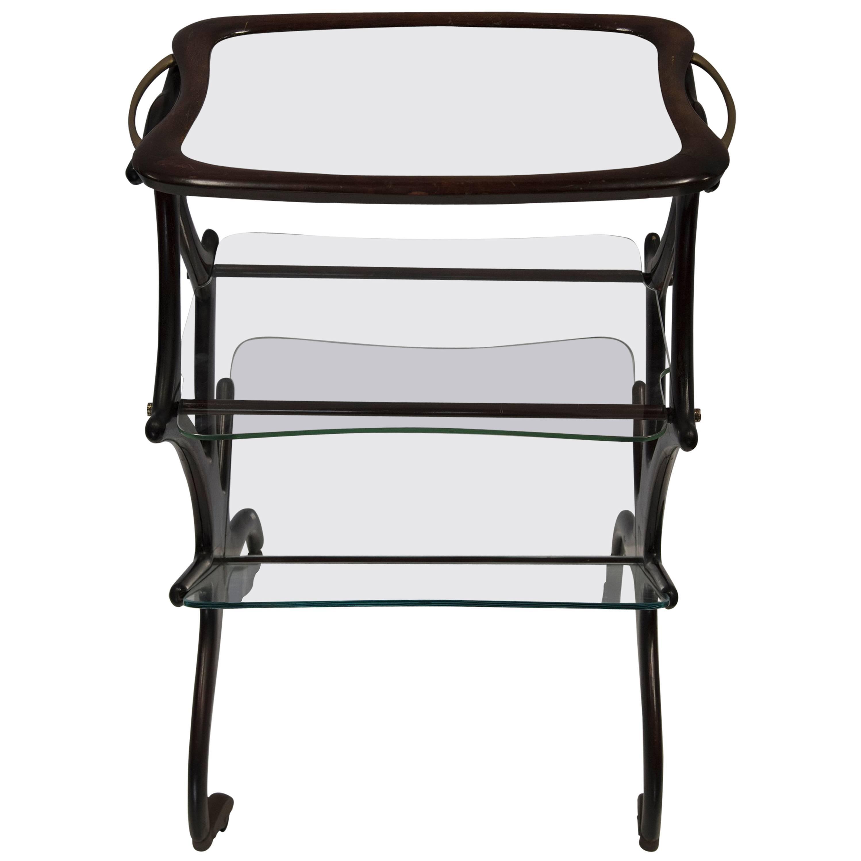 CESARE LACCA Glass Bar Cart