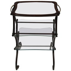 CESARE LACCA Glass Bar Cart