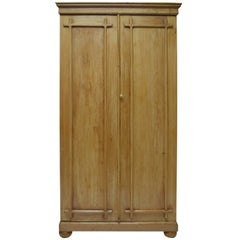 English Two-Door Pine Armoire
