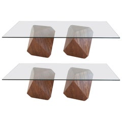William Earle Hal Set of Dining Table Bases for Rectangular Tabletop