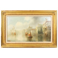"Antique Painting ""On the Grand Canal"" by James Salt"