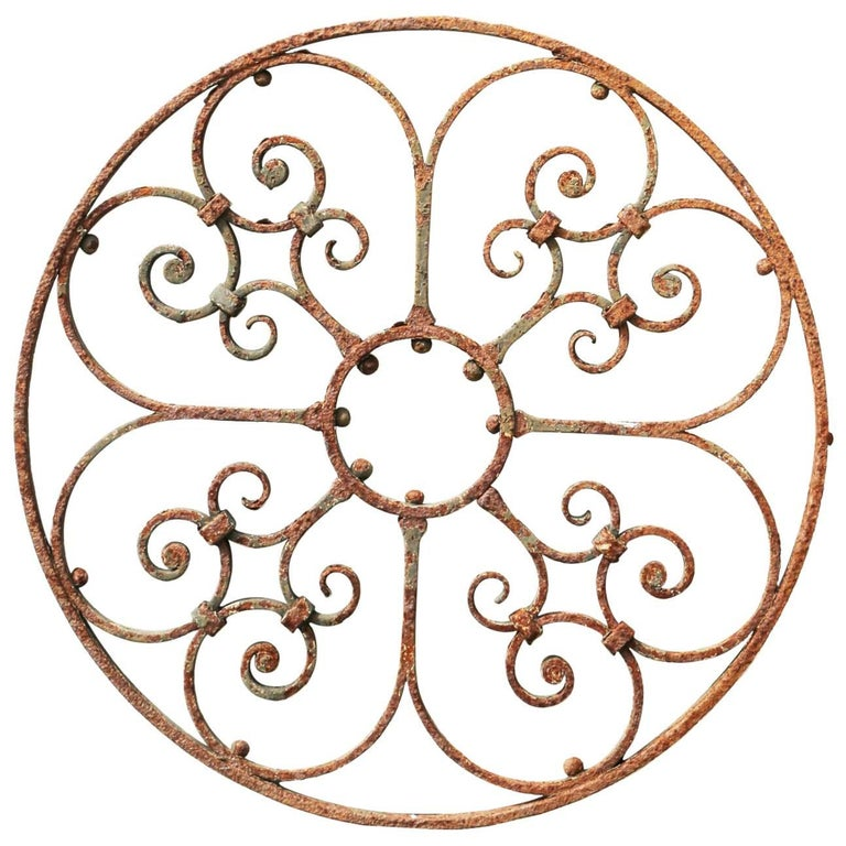 Round Wrought Iron 19th Century Window Grill