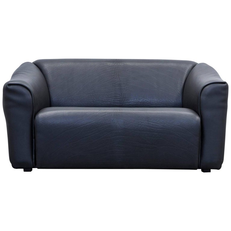 Designer couch  De Sede DS 47 Designer Sofa Neck Leather Black Two-Seat Function ...