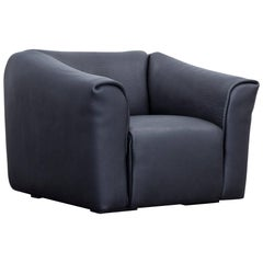 De Sede DS 47 Designer Armchair Neckleather Black Three-Seat Function Couch