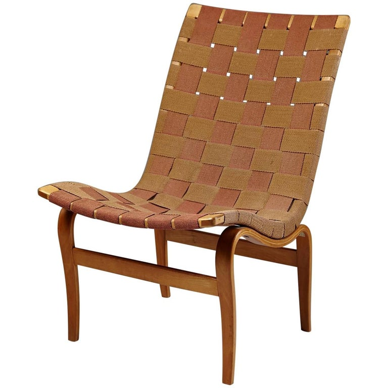 Eva Chair Designed by Bruno Mathsson for Karl Mathsson, Sweden, 1941