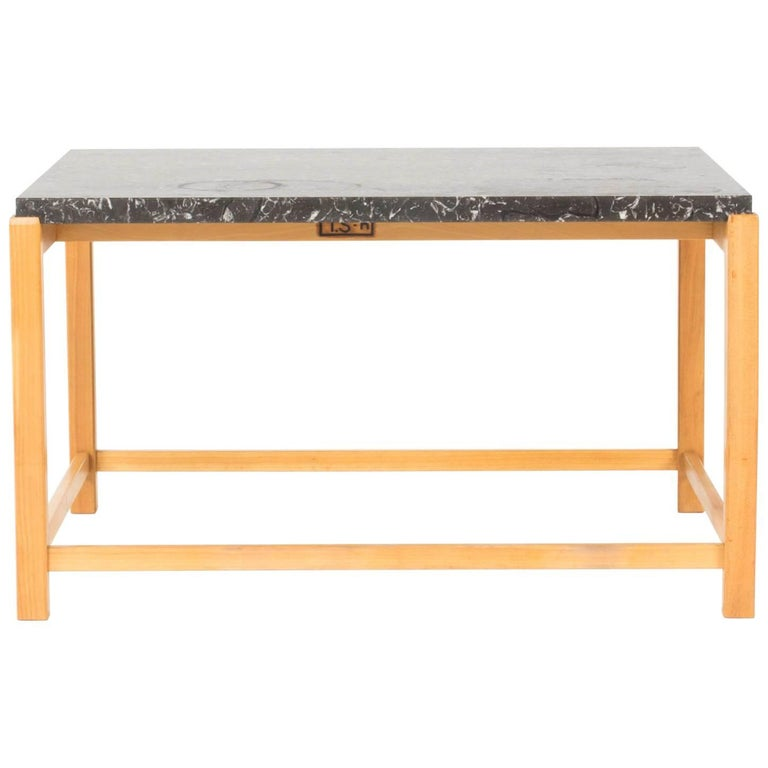 Marble-Top Coffee Table by Carl-Axel Acking
