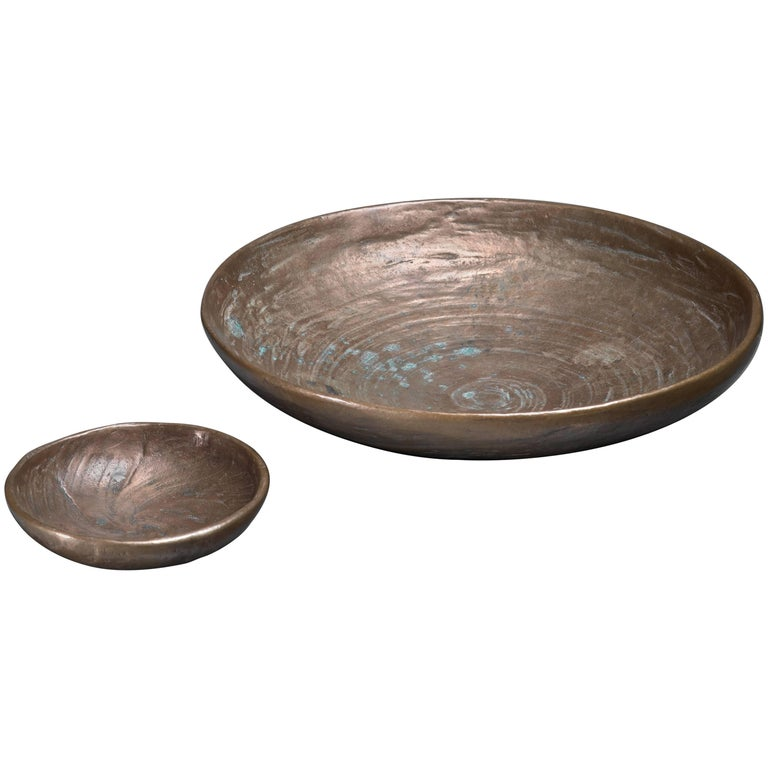 Pair of French Bronze Bowls, circa 1970