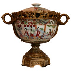 Chinese Bowl Assembled with Bronze Structure, First Third of the 19th Century