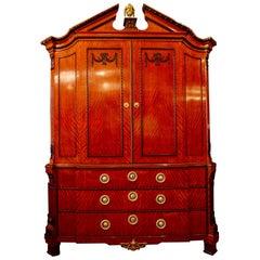 Dutch Dresser in Waved Wood, circa 1810