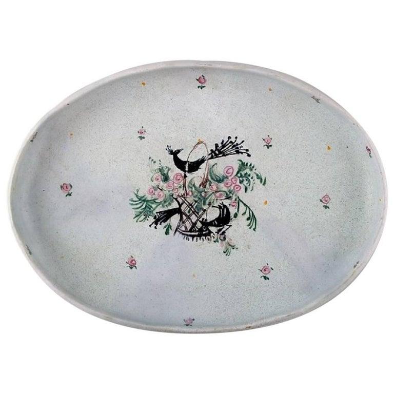 Bjørn Wiinblad, Rare and Early Unique Large Oval Platter