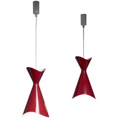 Bent Karlby Pair of Ninotchka Pendants, Denmark, 1950s
