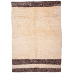 Contemporary Tulu Rug Made in Central Anatolia in Pure Wool