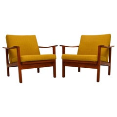 Pair of Swedish Teak Retro Armchairs Vintage, 1960s
