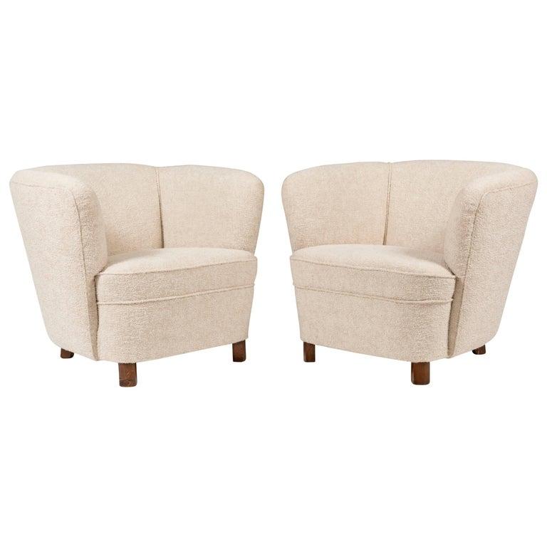 1940s Scandinavian Pair of Armchairs