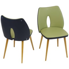 Pair of Chairs Cocktail Chairs Leatherette Wood