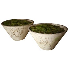 Pair of Mid-20th Century Willy Guhl Cone Planters