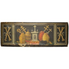 Huge 18th Century Religious Italian Oil Painted Panel