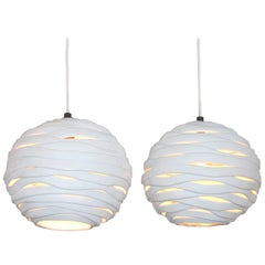 Orb Porcelain Pendant Light, Designed by Brendan Bass, Made in Italy