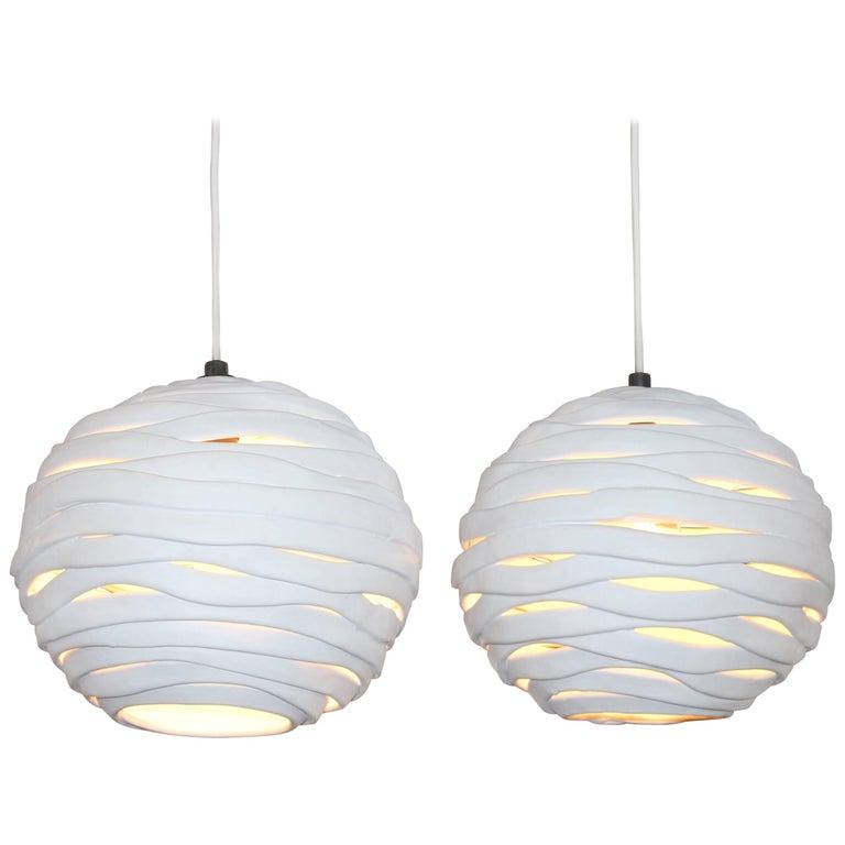 Orb Porcelain Pendant Light, Designed by Brendan Bass, Made in Italy
