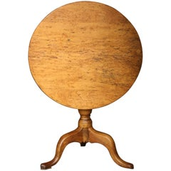18th Century Burr Elm Tilt-Top Table