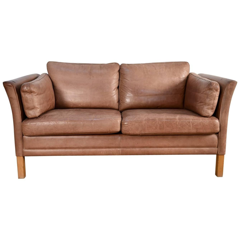 1960s Danish Leather Modular Sofa For Sale at 1stdibs
