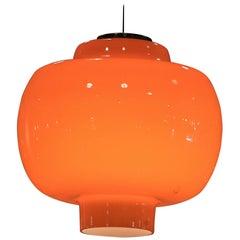 Orange murano ceiling Lamp by Vistosi. Round. Circa 1930