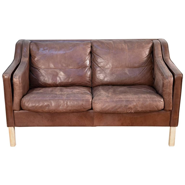 Danish Leather Sofa by Mogens Hansen, 1980s