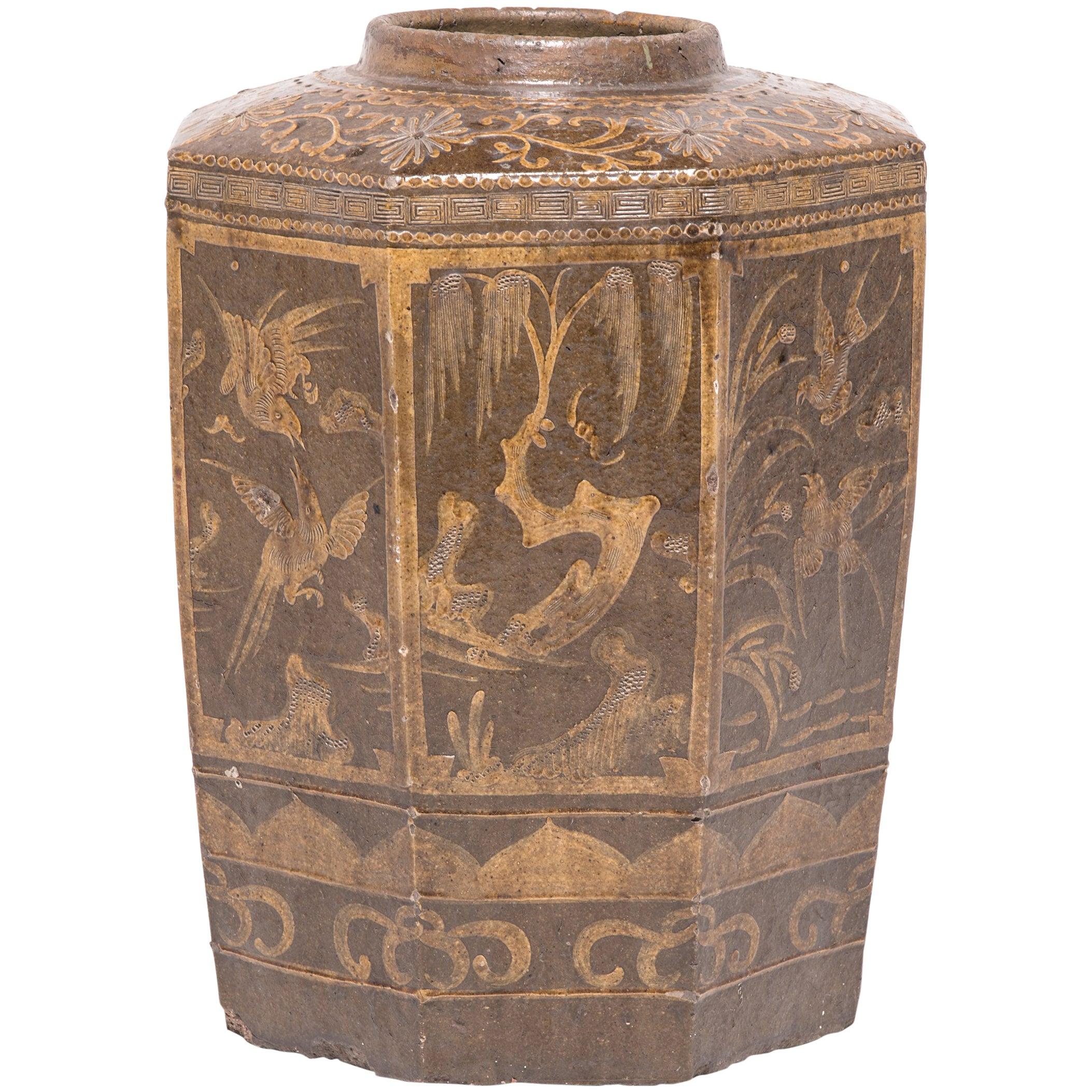 19th Century Chinese Glazed Pickling Pot