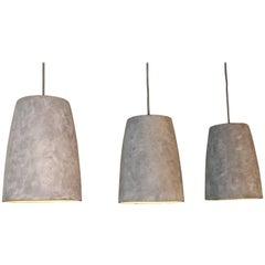 Conical Artisan Made Porcelain Pendant Light