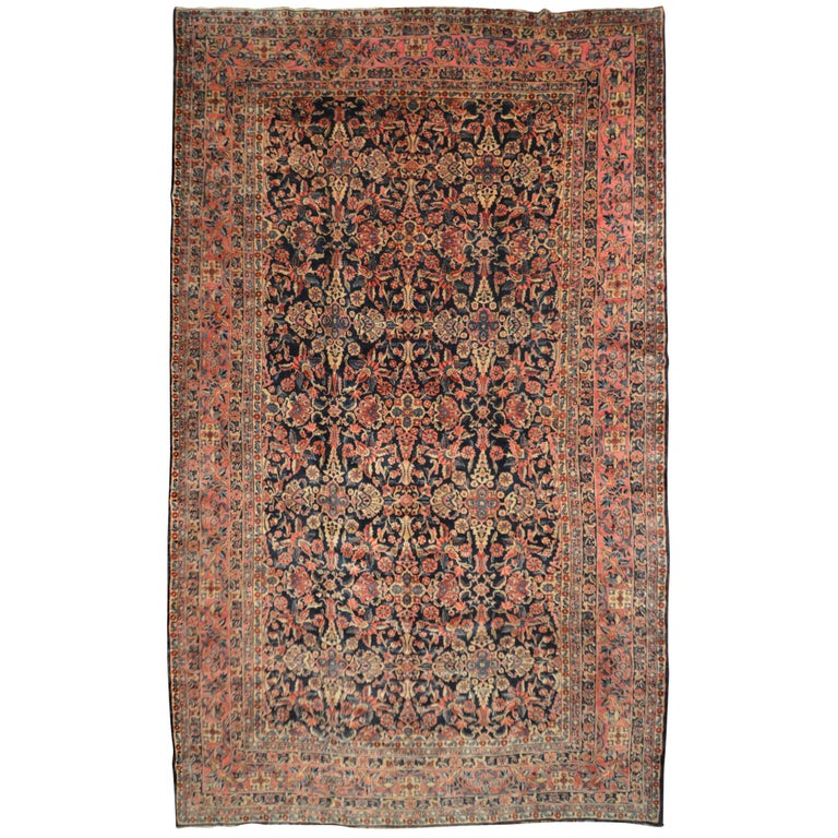 Early 20th Century Antique Persian Sarouk Rug