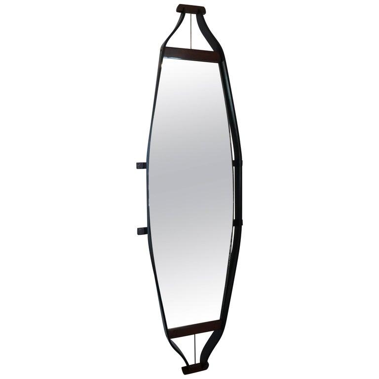 Italian Elongated Floating Mirror 1