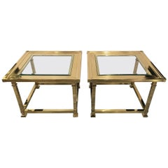 Pair of Mastercraft Square Bunching Tables