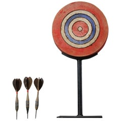 Early 20th Century, French Diminutive Dartboard