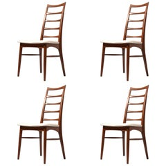 Four 'Lis' Niels Koefoed for Koefoed Hornslet Danish Dining Chairs
