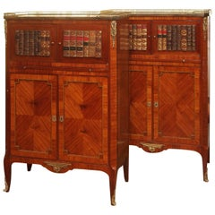 Pair of Antique Mahogany Library Bookcases
