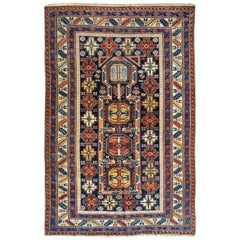Late 19th Century Antique Caucasian Kuba Rug